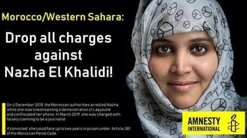 Juicio contra la periodista saharaui Nezha Khalidi queda visto para sentencia