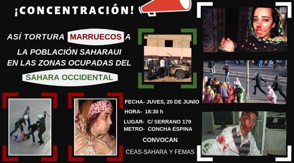 CEAS-Sahara y FEMAS: Convocamos concentración delante de la Embajada de Marruecos – CEAS-Sahara