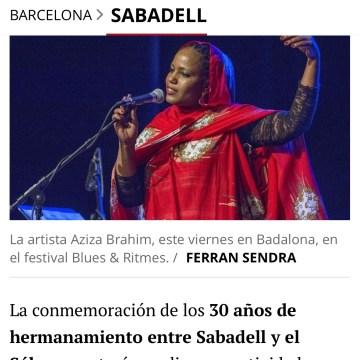 Sabadell conmemora los 30 años de hermanamiento con el Sáhara