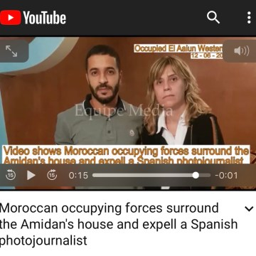 Moroccan occupying forces surround the Amidan's house and expell a Spanish photojournalist – YouTube