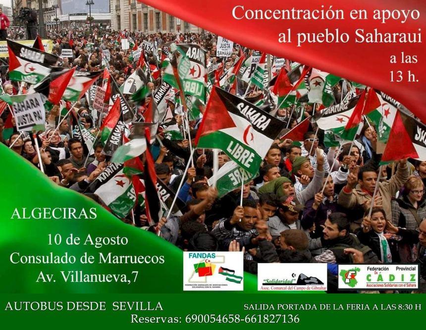 ALGECIRAS: CONCENTRACIÓN EN APOYO AL PUEBLO SAHARAUI – 10 de agosto de 2019 a las 13 h