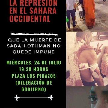 Valencia, 24 de julio: concentración para denunciar la violaciones de DDHH por parte de Marruecos en las zonas ocupadas del Sáhara Occidental