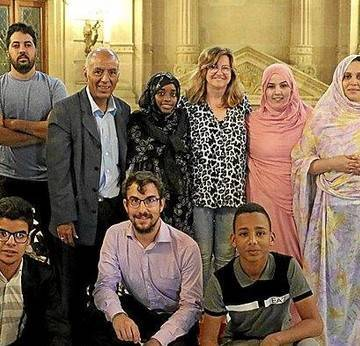 Recepción a jóvenes saharauis en el Consistorio. Noticias de Gipuzkoa