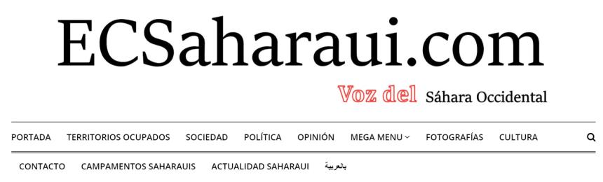 COMUNICADO OFICIAL  desde ECSAHARAUI ©: El sitio web de «ECS ARABIC» es la página oficial de la versión en árabe de ECSaharaui ©
