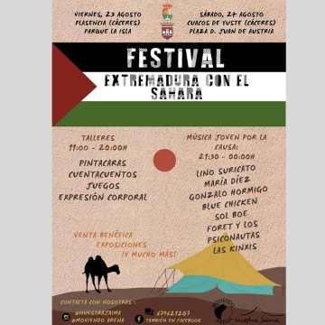 FESTIVAL EXTREMADURA CON EL SÁHARA, los días 23 y 24 de Agosto en Plasencia y Cuacos del Yuste (Cáceres)