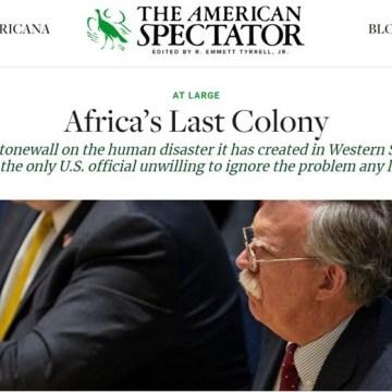 The American Spectator: El Sahara Occidental «La última colonia de África» | DIARIO LA REALIDAD SAHARAUI