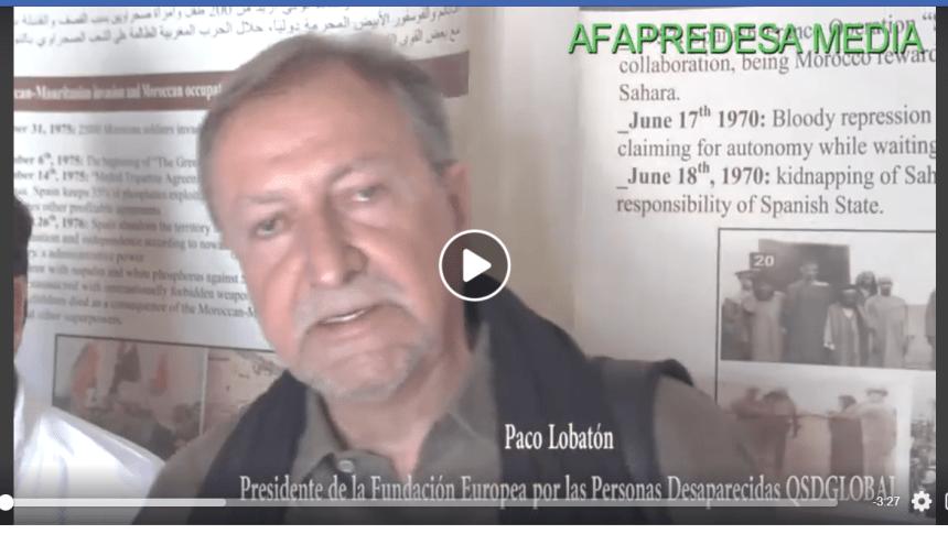 Paco Lobatón, presidente de la Fundación Europea por las Personas Desaparecidas, en AFAPREDESA