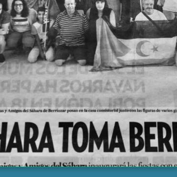 El Sahara toma Berriozar (prensa navarra)