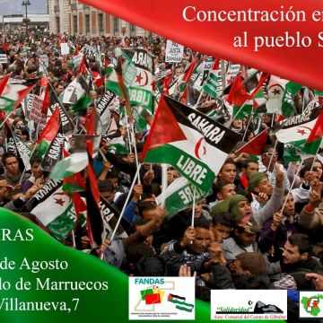Algeciras. 10 de agosto, 13:00H. Concentración en apoyo al pueblo Saharaui — SADICUM