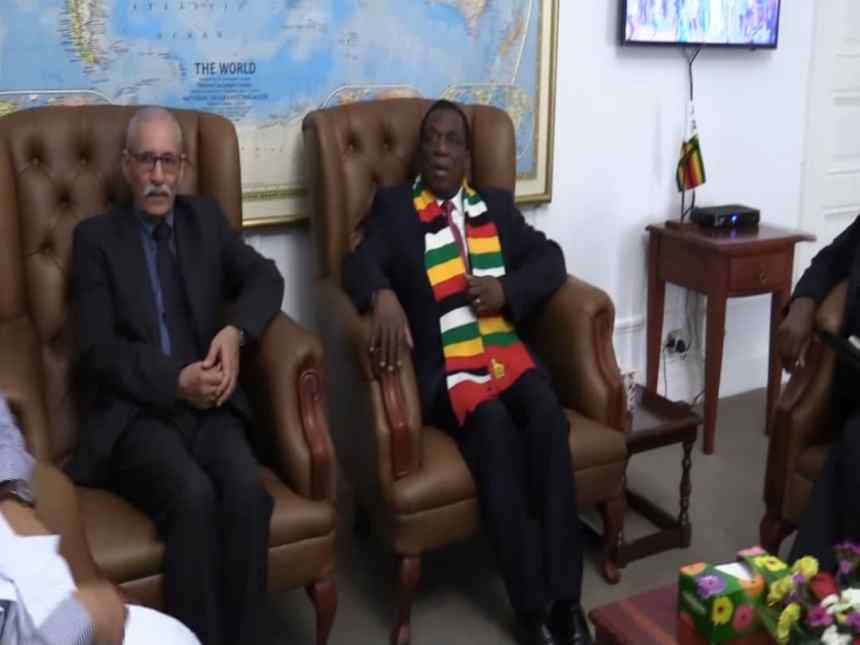President Ghali received by his Zimbabwean counterpart | Sahara Press Service