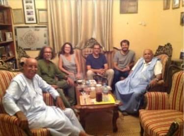 Generación de la Amistad saharaui: Encuentro de profesores de antropología con el intelectual mauritano Ahmed Mahmud (Jamal)