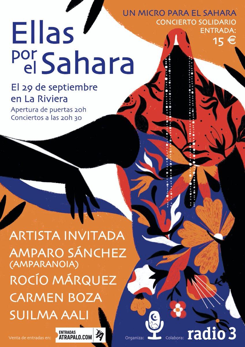 Un micro para el Sáhara | El próximo 29 de septiembre a las 20:30 h CONCIERTO SOLIDARIO ELLAS POR EL SÁHARA, en La Riviera (Madrid)