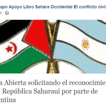 Carta al Futuro Presidente de la Argentina por el Reconocimiento de la República Saharaui | Por Jorge Alejandro Suárez Saponaro