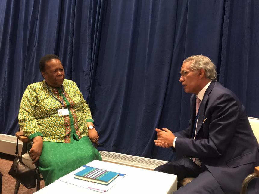 El Titular de exteriores mantiene intensas reuniones con jefes de delegaciones participantes en Debate general de la Asamblea General | Sahara Press Service