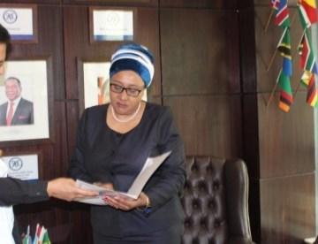 Saharawi Ambassador presents credentials as Permanent Representative of SADR to SADC Executive Secretary   Sahara Press Service