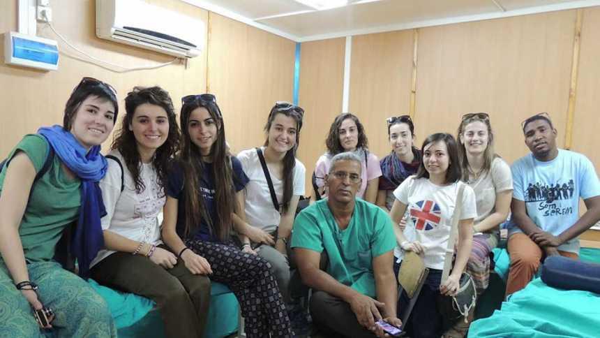 Enfermeros en el Sáhara