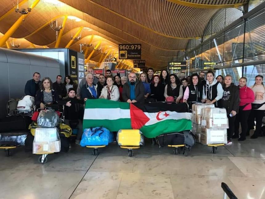 Siete cordobeses viajan a los campamentos saharuis, pese a la alerta de riesgo de atentado hecha por el Gobierno