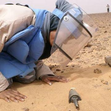 Mujeres saharauis arriesgan sus vidas para limpiar el Sáhara Occidental de las minas y explosivos