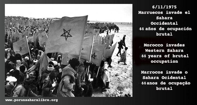 EL 6 DE NOVIEMBRE DE 1975, EL REY DE MARRUECOS LANZÓ LA MARCHA VERDE, CONOCIDA COMO MARCHA NEGRA PARA LOS SAHARAUIS | PUSL
