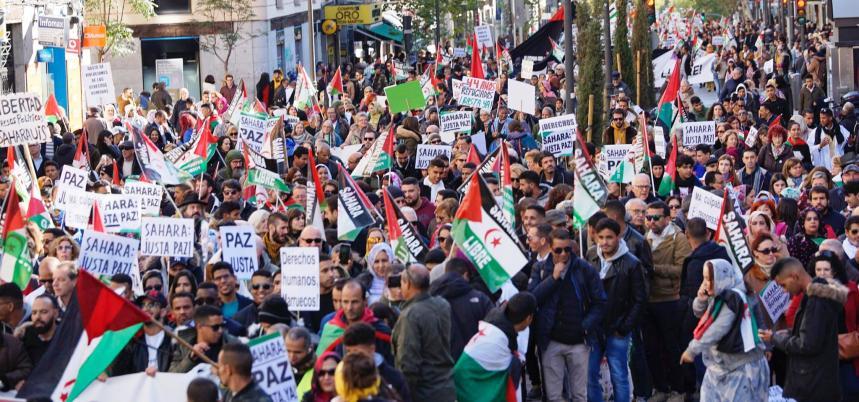 La causa saharaui vuelve a tomar las calles de Madrid para denunciar la ocupación marroquí al Sahara Occidental y la responsabilidad de España   Sahara Press Service