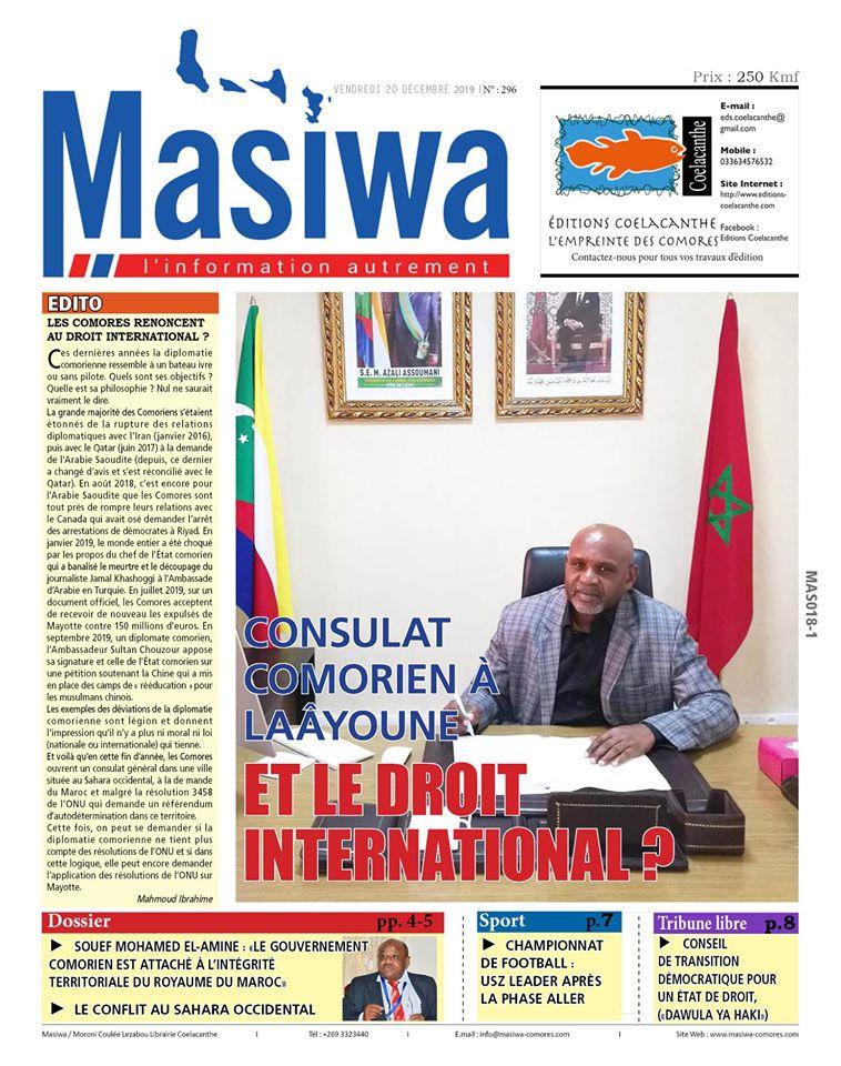 DÉCLARATION EN SOUTIEN AU PEUPLE SAHRAOUI – Masiwa komor