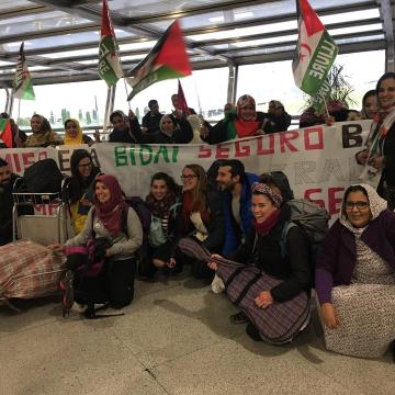 Los cooperantes españoles de retorno a sus hogares tras su visita a los Campamentos de la Dignidad | Sahara Press Service