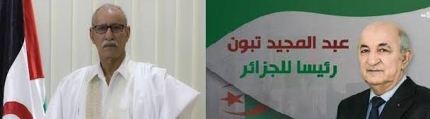 Presidente de la RASD felicita a Abdelmadjid Tebboune por su elección como presidente de Argelia | Sahara Press Service