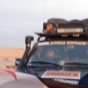 ECS en El Guerguerat: Los manifestantes permiten pasar aquellos vehículos que no llevan bandera marroquí ni el Mapa de Marruecos donde se incluye el Sáhara Occidental