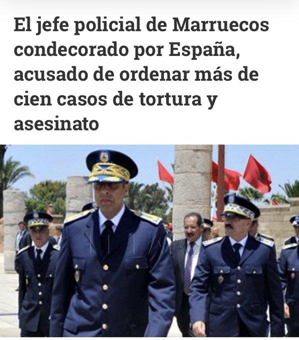 Gobierno PSOE-Podemos vs. Sahara Occidental #MásDeLoMismo | @JonInarritu: El Ministerio del Interior justifica la nueva medalla a Abdelatif Hamouchi, denunciado por torturas contra saharauis