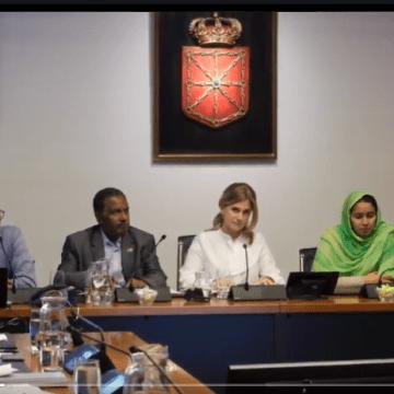 Parlamento de Navarra: sesión de Trabajo con la nueva representación de la Delegación Saharaui para Navarra