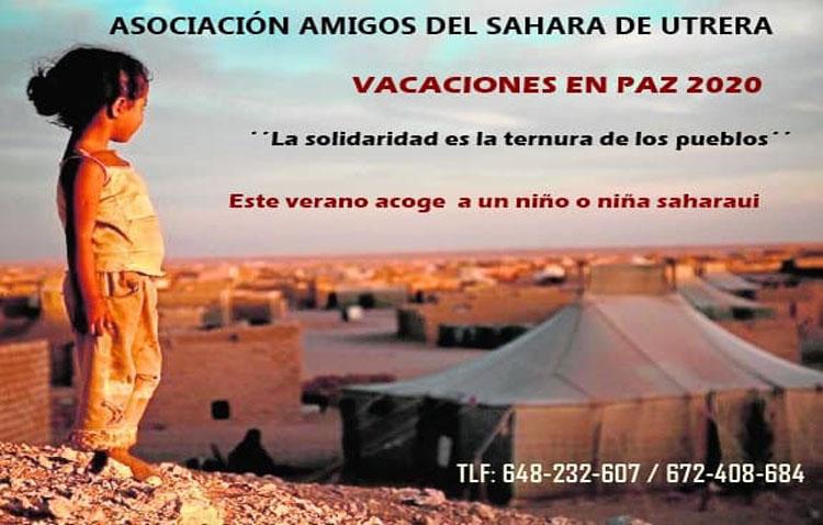 La asociación «Amigos del Sahara» de Utrera ha iniciado una campaña de captación de familias para la acogida de un niño o niña saharaui durante los meses de verano
