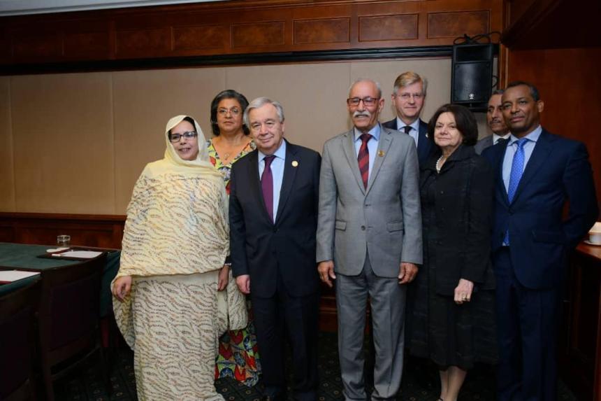 El presidente de la Republica se reúne con el Secretario General de la ONU en Adís Abeba (+FOTOS) | Sahara Press Service