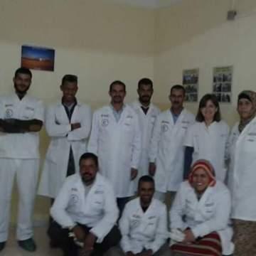 Grupo farmacéutico saharaui fabrica desinfectante y estará disponible para todos los hospitales de la República saharaui