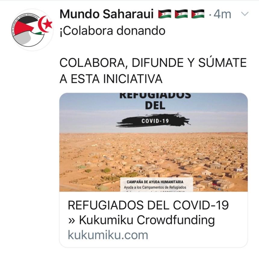 Campaña LEEJSE Coronavirus en Campamentos refugiados saharaui
