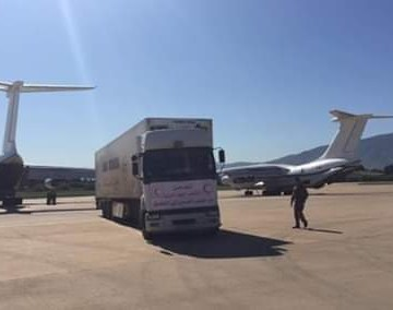 Argelia envía a los campamentos saharauis 154 toneladas de material sanitario e higiénico para prevenir de la Covid-19