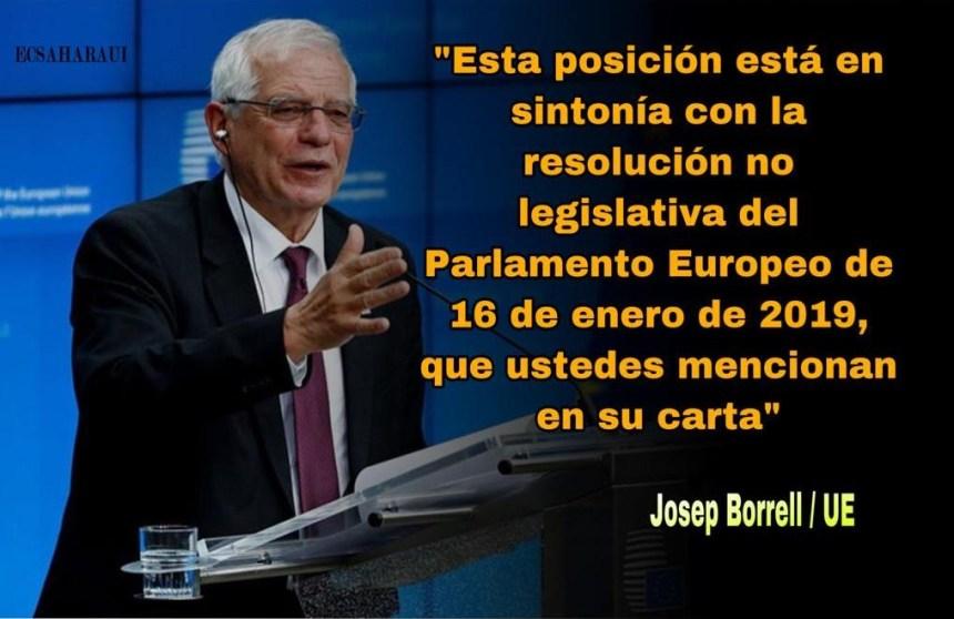Borrell: 'UE apoya los esfuerzos de la ONU en el Sáhara Occidental para una solución que garantice el derecho de su pueblo a la libre determinación»
