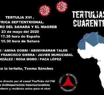Encuentro digital sobre El futuro del Sáhara y el Magreb, organizada por el Frente Antiimperialista Internacionalista (FAI) en Youtube el próximo día 23 a las 17.30 horas