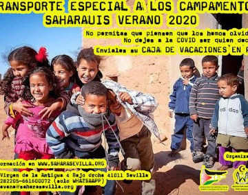Sahara Sevilla: TRANSPORTE ESPECIAL A LOS CAMPAMENTOS SAHARAUIS VERANO 2020
