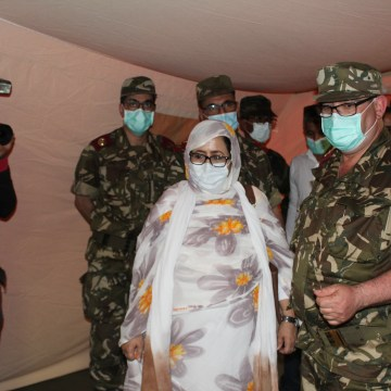 Autoridades saharauis inauguran hospital de campaña levantado con el apoyo Argelia | Sahara Press Service