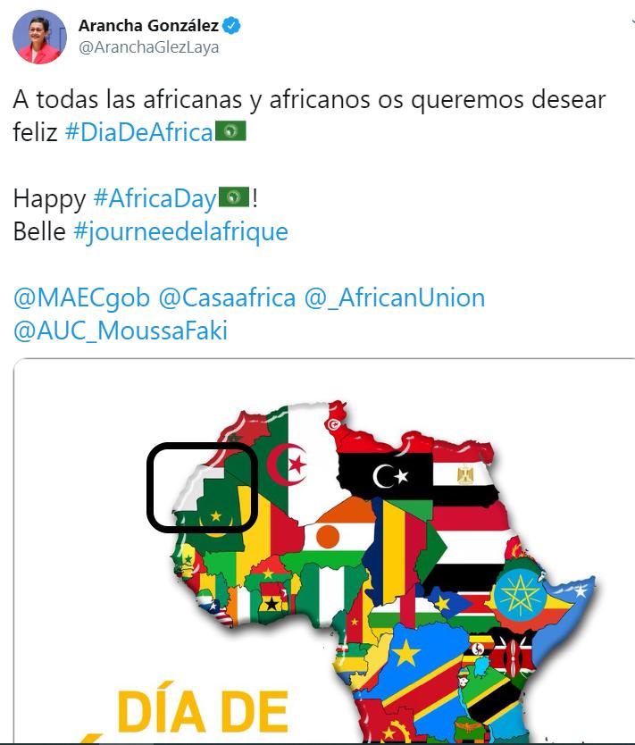 Ministerio de Exteriores «borra» al pueblo saharaui
