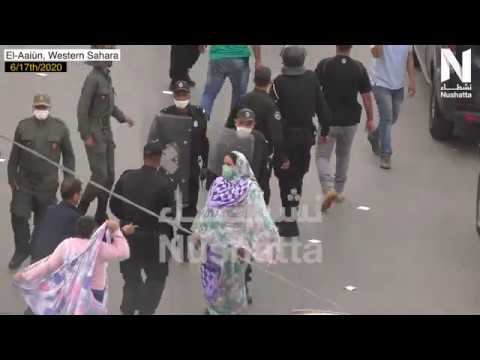 This is another side of the Moroccan police brutality against peaceful Saharawi activists women – by Nushatta Foundation