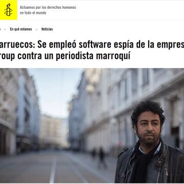 Marruecos: Se empleó software espía de la empresa NSO Group contra un periodista marroquí
