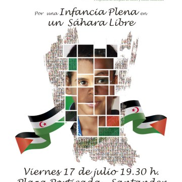Concentración VeP 2020: Por una Infancia plena en un Sáhara Libre – Cantabria por el Sáhara ONG