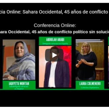 Conferencia Online: Sahara Occidental, 45 años de conflicto político sin solucionar –Rasd-tv En Español – Tv saharaui-