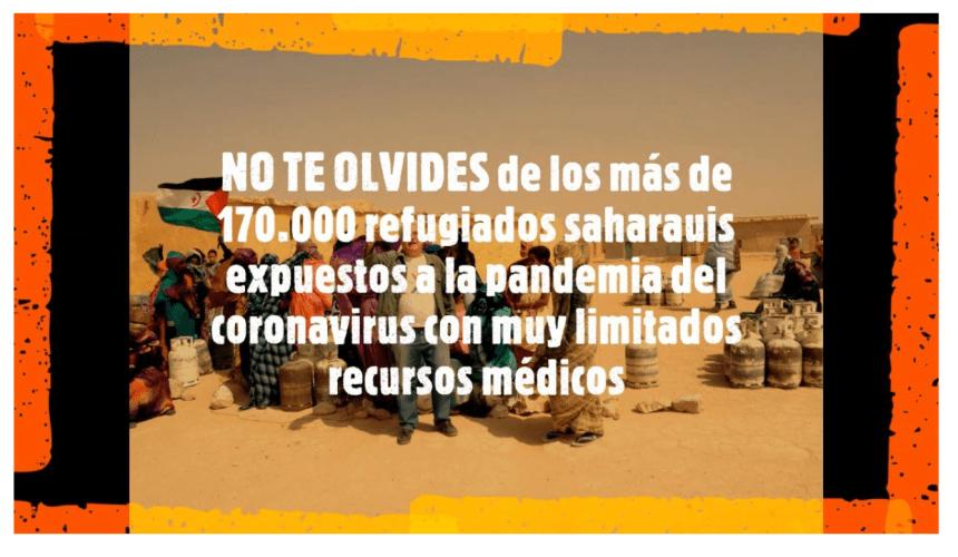 NO TE OLVIDES de los más de 170.000 refugiados saharauis expuestos a la pandemia del coronavirus (Actualidad)