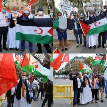 Con motivo del Día Internacional de la Paz, la comunidad saharaui sale a las calles de París para llamar la atención del mundo sobre la situación en el Sáhara Occidental