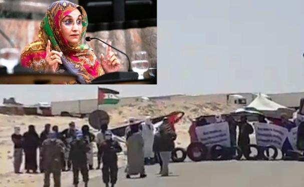 Aminetu Haidar asegura que el paso fronterizo ilegal en la región de Guergarat amenaza la paz en el Sáhara Occidental | Sahara Press Service