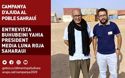 Entrevista a Buhubeini Yahia, president de la Mitja Lluna Roja Sahrauí | Federació ACAPS