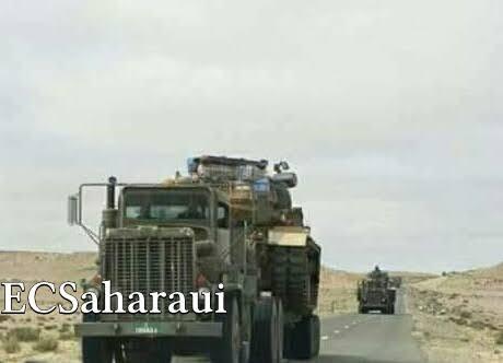 [VÍDEO] – Ejército de Marruecos envía a El Guerguerat, sur del Sáhara Occidental, decenas de carros de combate y blindados