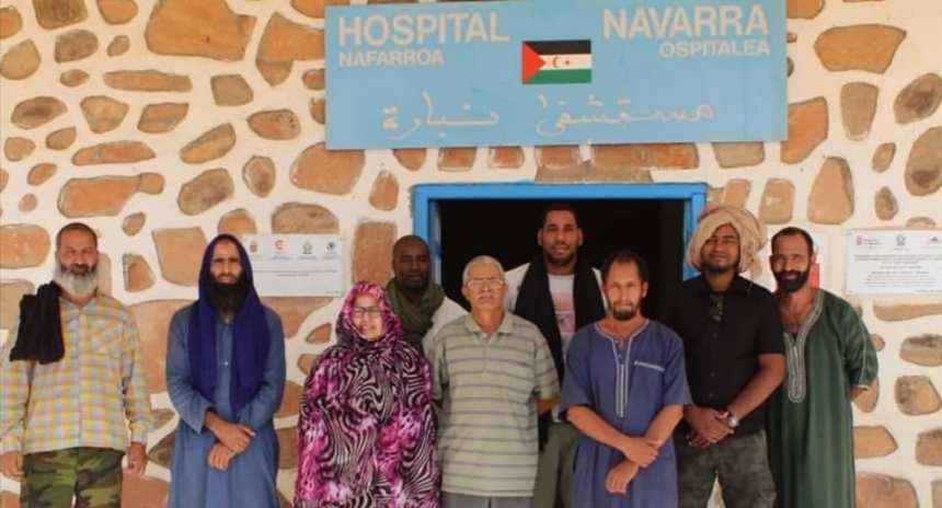 Llegada de la misión médica al Hospital de Navarra de los TERRITORIOS LIBERADOS de la RASD